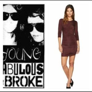 YOUNG BROKE AND FABULOUS BODYCON DRESS